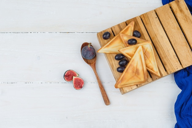 Leckeres frühstück mit früchten