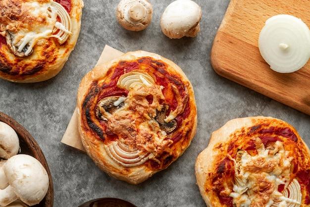 Leckeres traditionelles pizza-arrangement