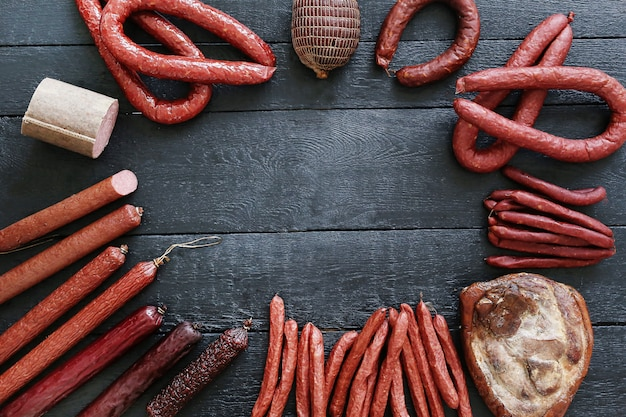Leckeres und geröstetes fleisch