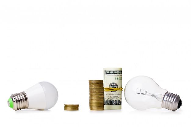 Led-lampe und glühbirne