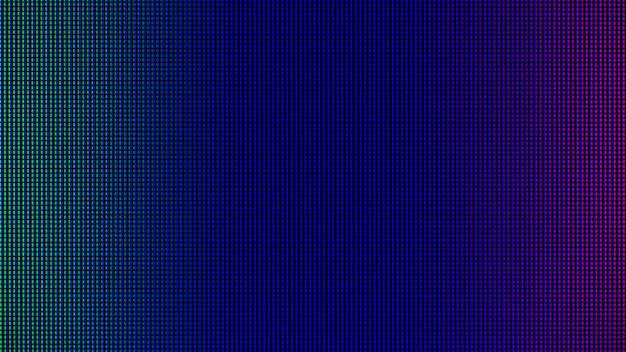 Led-leuchten von der led-bildschirmanzeige des computerbildschirms.