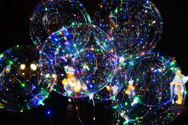 Led transparenter ballon, perfekt für party, hochzeit, weihnachten, dekoration, promotion