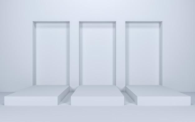 Leere bühne zum zeigen, 3d-rendering
