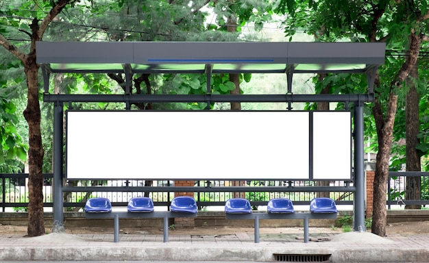 Leere bushaltestelle billbord