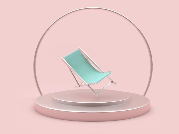 Leere chaiselongue auf einem ständer