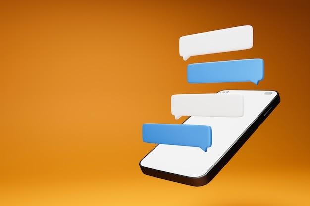 Leere chatbox auf dem smartphone