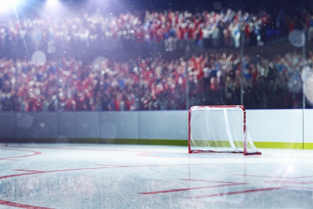Leere hockeyarena