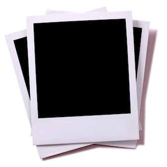 Leere instant-fotografie papier