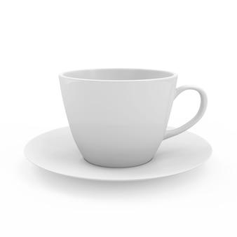 Leere kaffeetasse lokalisiert auf weißem hintergrund