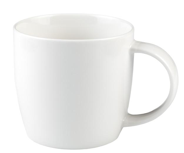Leere kaffeetasse lokalisiert auf weißem hintergrund.