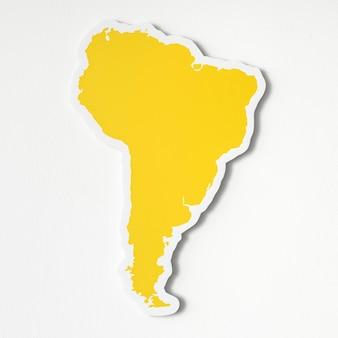 Leere karte von südamerika