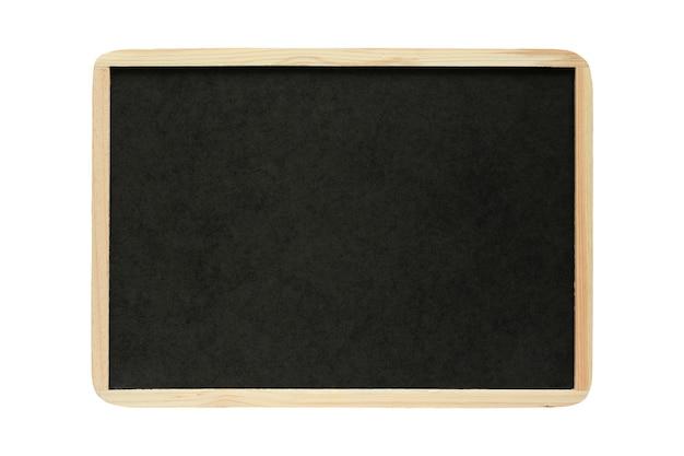 Leere leere schwarze tafel lokalisiert auf weißem hintergrund