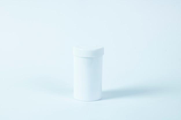 Leere medizin pille flasche kopie raum textur isoliert
