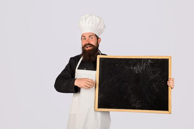 Leere menütafel mit kopienraum für textkochen, werbung für kulinarische ernährung und lebensmittelkonzept