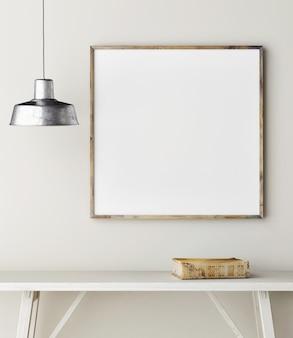 Leere nahaufnahme eine plakatlampe alte buchdekoration