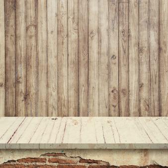Leere obere regale oder tisch auf wand hintergrund.