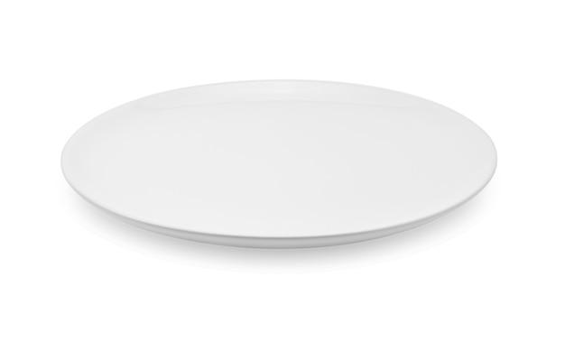 Leere platte lokalisiert auf weißem hintergrund