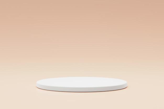 Leere podest- oder sockelanzeige auf modernem hintergrund mit zylinderständerkonzept.
