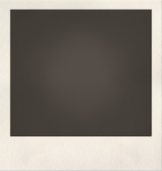 Leere polaroid-bild