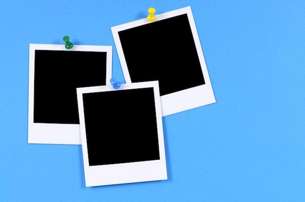 Leere polaroid-stil fotodrucke
