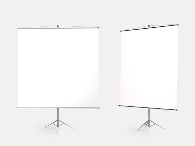 Leere projektionswand. isoliert. 3d-rendering.