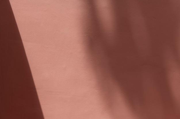 Leere rosa wand mit schatten