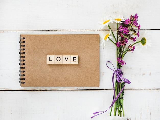 Leere seite und eine liebeserklärung