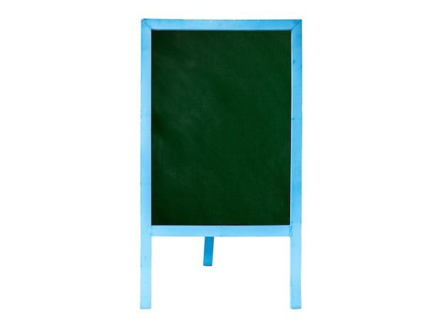 Leere tafel und schild isoliert auf weißem hintergrund. datei enthält mit beschneidungspfad so einfach zu arbeiten.