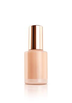 Leere verpackung rosegold glas tropfer serum flasche isoliert auf weiß