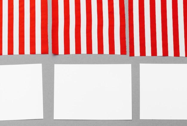 Leere visitenkarte mit amerikanischer flagge