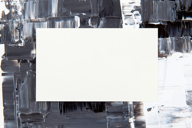 Leere visitenkarte, strukturierter farbhintergrund