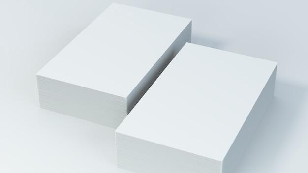 Leere visitenkarten auf weißem hintergrund
