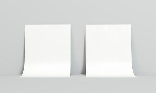 Leere visitenkarten des firmenkopierraums, die auf wand ruhen