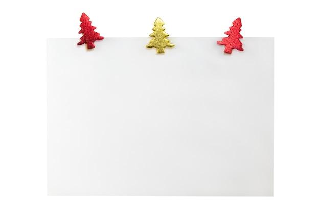 Leere weihnachtsgeschenkkarte