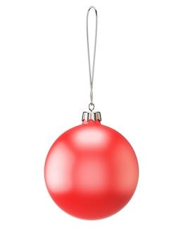 Leere weihnachtsverzierung lokalisiert auf weißem hintergrund. 3d-renderbild.