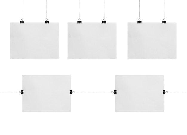 Leere weiße präsentationstafel oder schildermodell isoliert auf weißem hintergrund
