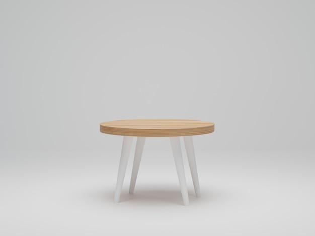 Leere weiße tischplatte auf weißem hintergrund, mockup für anzeigeprodukt oder montage für werbung. 3d-rendering