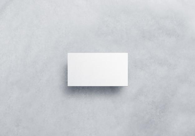 Leere weiße visitenkarte