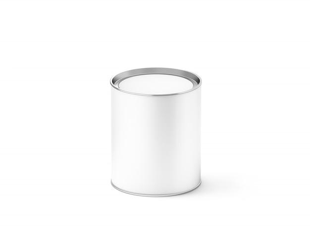 Leere weiße zylinder kann, isoliert,