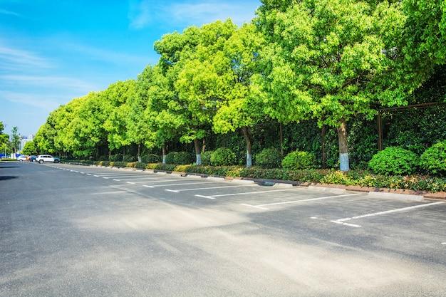 Leeren parkplatz