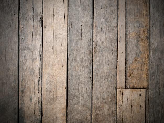 Leeren sie alten natürlichen braunen strukturierten hölzernen hintergrund, draufsicht