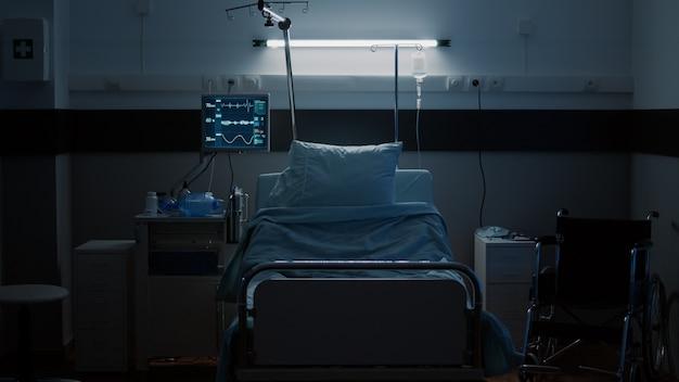 Leerer aufwachraum als krankenstation