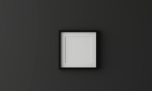 Leerer bilderrahmen zum einfügen von text oder bild in dunkelgrauer farbe.