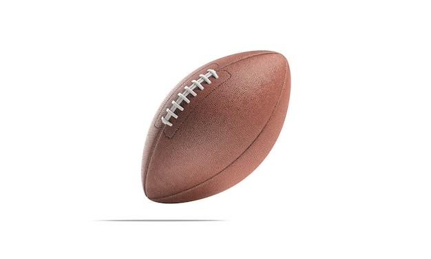 Leerer brauner amerikanischer fußball mock up leeres leder usa fotball für wettbewerbsmodell isoliert