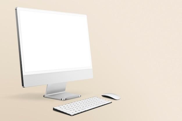 Leerer desktop-computerbildschirm