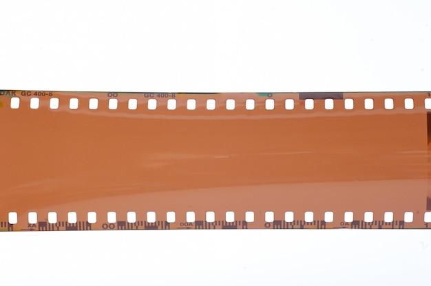 Leerer film auf weiß