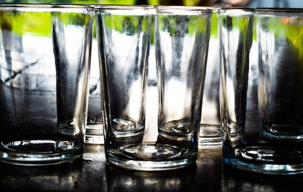 Leerer glashintergrund