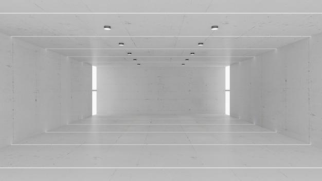 Leerer grauer betonraum