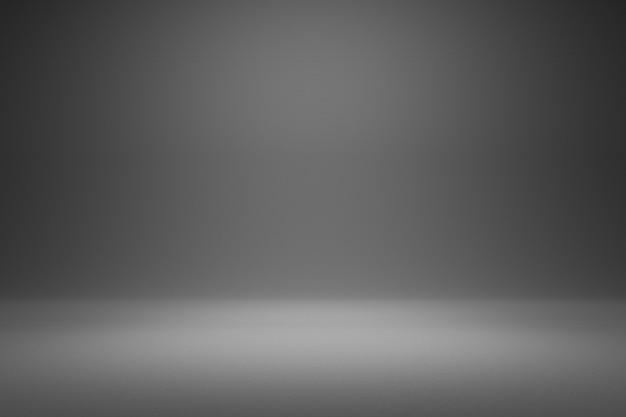 Leerer grauer hintergrund und scheinwerfer. realistische 3d-render.