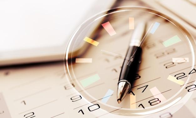 Leerer kalender für notiz, arbeitsmanagement mit